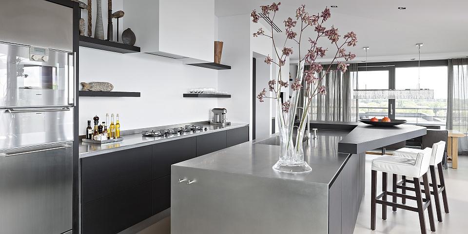 Moderne Eikenhouten Keuken Terrazzo Werkblad : Moderne Keuken In ...