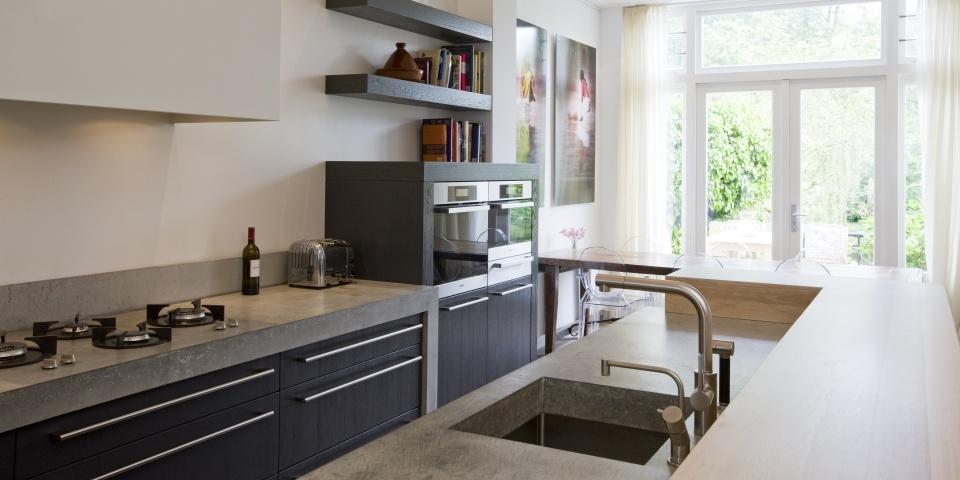 Moderne eikenhouten keuken terrazzo werkblad ~ consenza for .