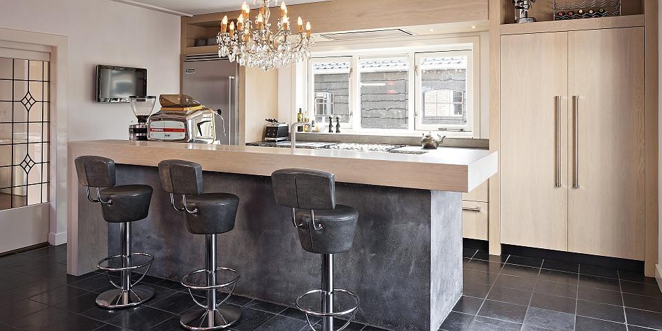 Hollands maatwerk landelijk moderne keukens - Lounge en keuken in dezelfde kamer ...